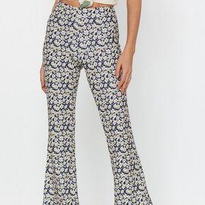 Daisy Print Flare Pants